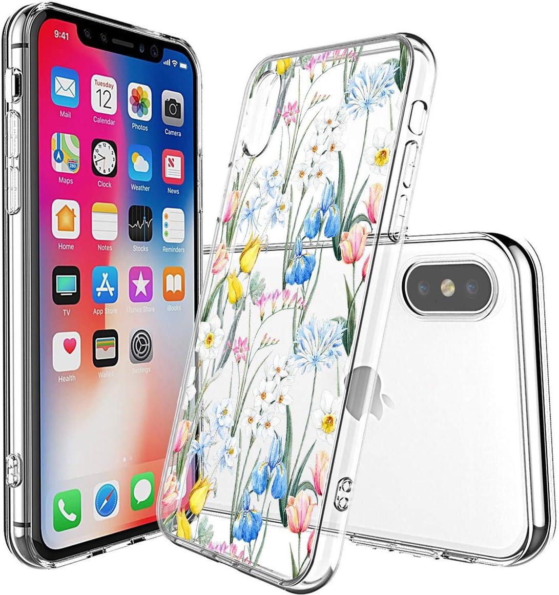 A1 Oihxse Mandala Motif Case Compatible pour iPhone 11 Coque Transparente Silicone TPU Souple Protection Etui Ultra Slim Mehndi Floral Datura Dentelle Housse Bumper