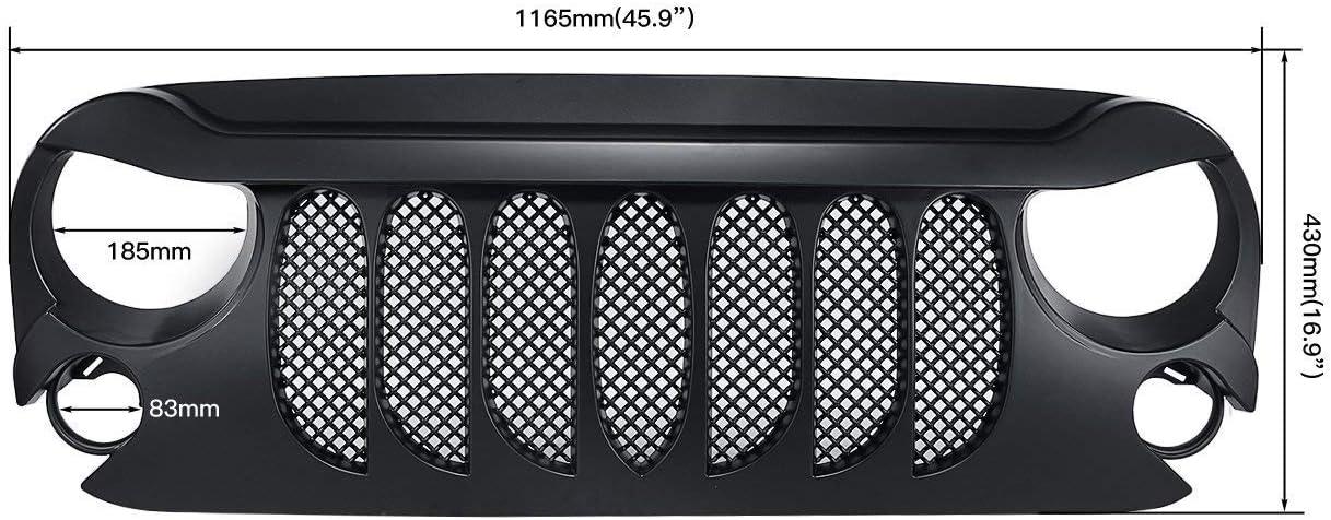 bestsxma coche accesorios rejilla delantera mate negro transformador rejilla rejilla rejilla con inserto de malla