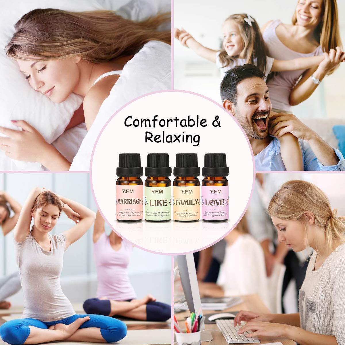 Luckyfine Bombas de Baño y Aceites Esenciales 100% Puros y Naturales, 4 Sal de Baño y Aceites de Aromaterapia para Relajación e Hidratación, Regalo Perfecto ...