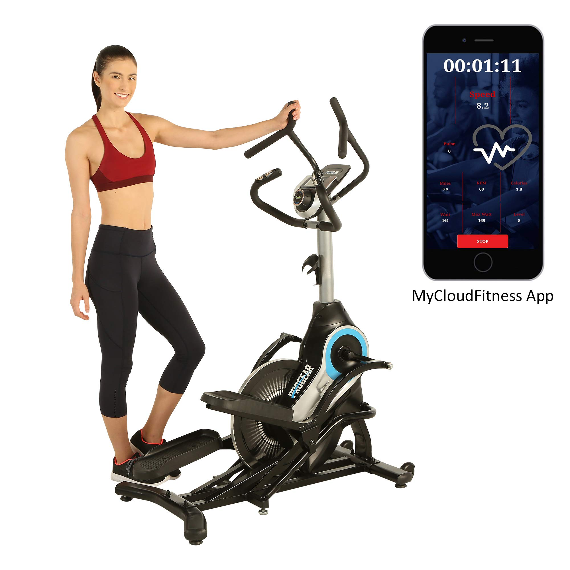 ProGear 9900 HIIT Bluetooth Smart Cloud Fitness Crossover Stepper/Elliptical Trainer with Goal Setting and Free App