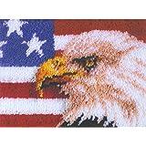 "Wonderart American Eagle Latch Hook Kit, 15"" X 20"""