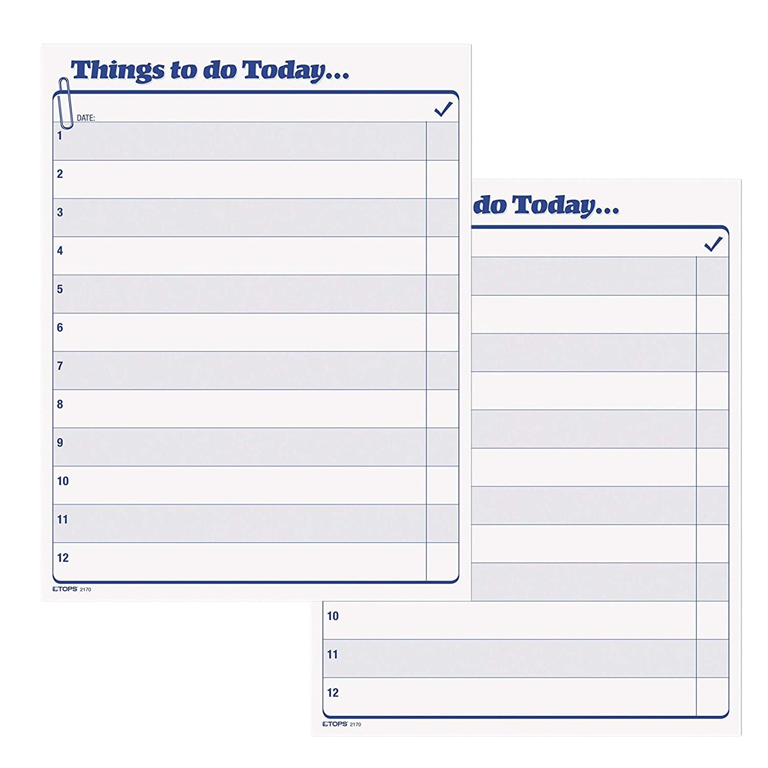TOPS Daily Agenda Things to Do Today Pad, 8.5 x 11 Inches, 100-Sheet Pad (2170)