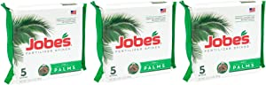 Jobe's Palm Tree Fertilizer Spikes 10-5-10 Time Release Fertilizer for All Outdoor Palm Trees, 5 Spikes per Package (3)