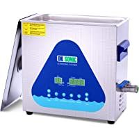 Professional Ultrasonic Cleaner-DK SONIC 6L 180W Sonic Cleaner with Heater and Basket for Metal Parts, Carburetor,Fuel…