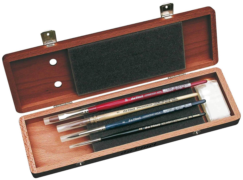 da Vinci 5240 Watercolor Deluxe Wood Box 5 Brush Set