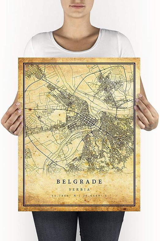 Belgrade City Port At Night Serbia Europe Poster 17/'/' X 12/'/'