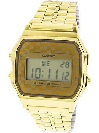59a99ae74ca6 Amazon.com  Casio  A159WGEA-9A Men s Vintage Gold Tone Chrongoraph Alarm  LCD Digital Watch  Casio  Watches