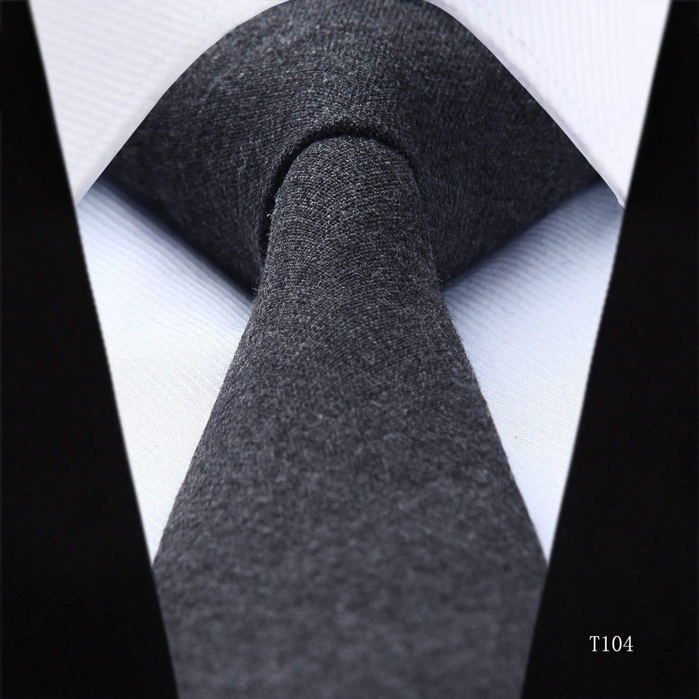 Corbata para hombre de 6 cm, diseño de rayas de suelo, color negro ...