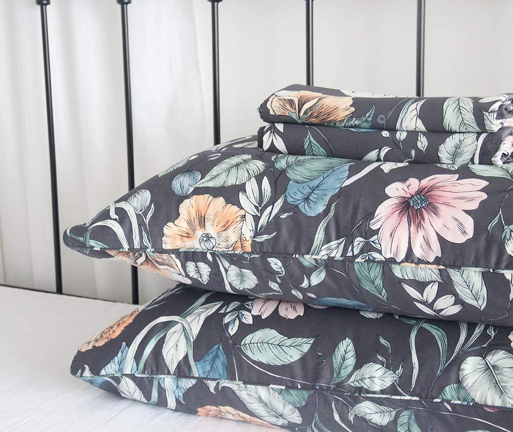Queens House Luxury Paisley Print Bed Sheet Queen Set-T