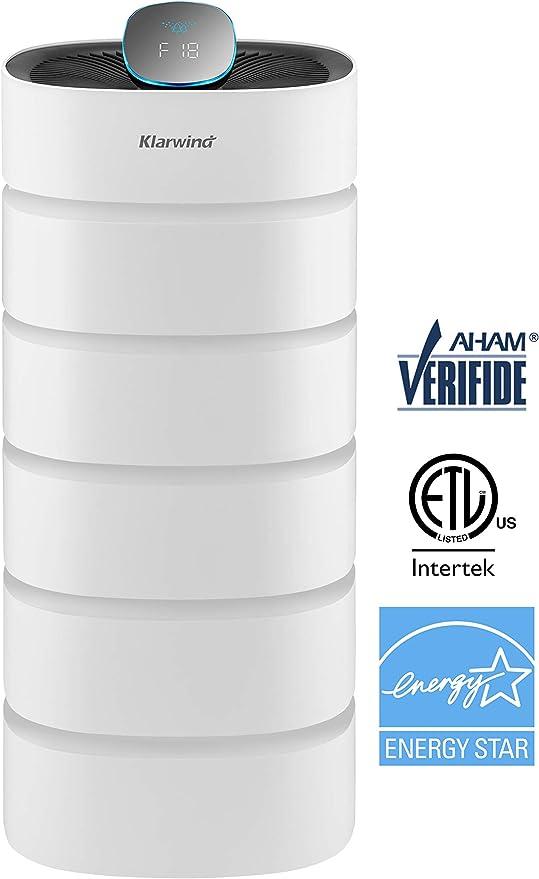 KLARWIND Alexa purificador de Aire Compatible para el hogar - HEPA ...