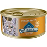 Blue Buffalo Blue Wilderness Turkey Recipe Wet Cat Food, 5.5 oz, Case of 24, 24 X 5.5 OZ