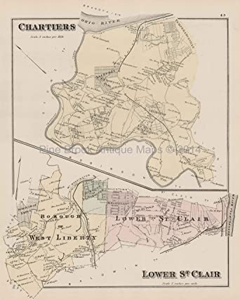 Chartiers Stowe Lower St. Clair Pennsylvania Antique Map ... on map of woodford county, map of chicago county, westmoreland county, map of kearney county, map of irwin county, chester county, map of westmoreland county, map of carlisle county, cumberland county, butler county, map of mingo county, bucks county, washington county, montgomery county, lancaster county, map of greenbrier county, erie county, fayette county, map of laurel county, map of noble county, map of white county, map of addison county, map of mercer county, map of ritchie county, york county, map of juniata county, map of buffalo county, bedford county, delaware county, map of montgomery county community college, adams county, map of wetzel county, philadelphia county, map of beaver county, beaver county, map of preston county,