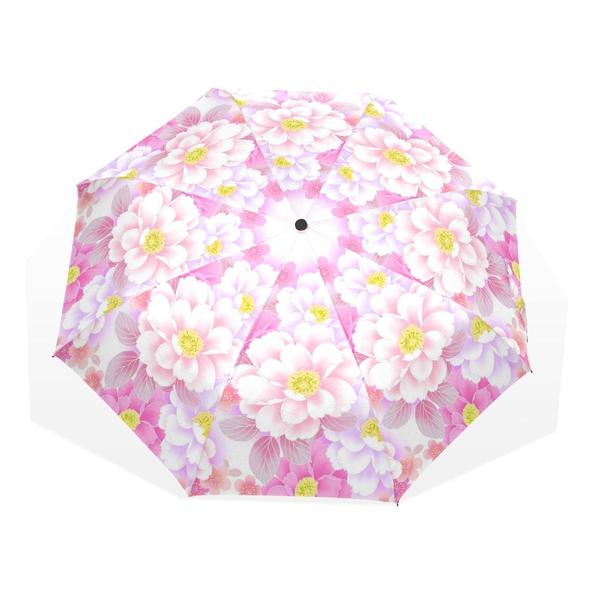 baihuishop防風ゴルフ傘、コンパクトで旅行for Easy Carryingスポーツ雨傘 – 強力なフレーム壊れない花30パターン   B01K6VNOW8
