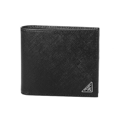 outlet store f7f53 90a59 Amazon | (プラダ) PRADA 二つ折り財布 SAFFIANO TRIANGOLO ...