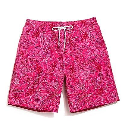 f58bdba88a63 Xiaoxiaozhang Pantaloni da Spiaggia da Uomo, Fiori da Vacanza al Mare, Pantaloni  da Nuoto