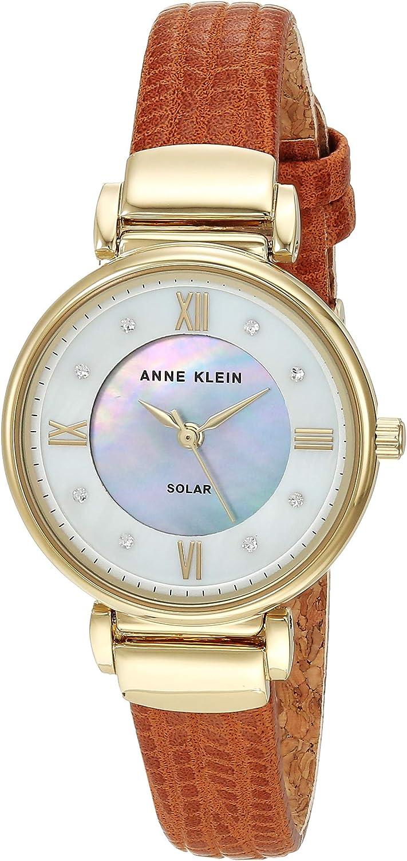 Anne Klein Considered Women's Swarovski Crystal Accented Cork Lined Strap Watch, AK/3660