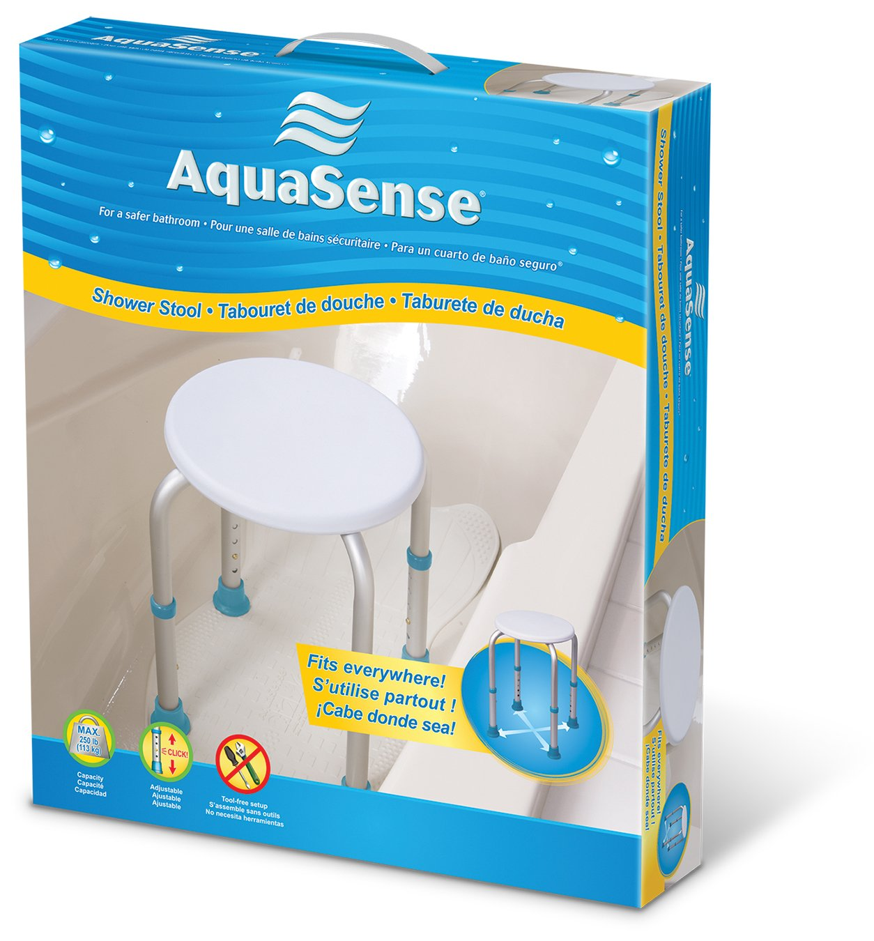 AMG AquaSense Shower Stool: Amazon.ca: Health & Personal Care