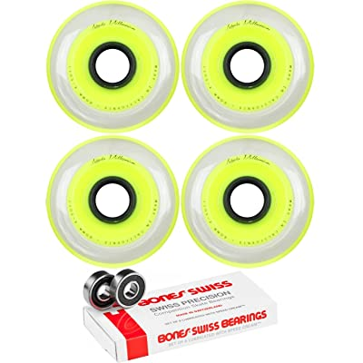 Labeda Millennium Gripper Yellow Hockey Inline Wheels 80mm X-Soft 4 Pack Swiss : Sports & Outdoors