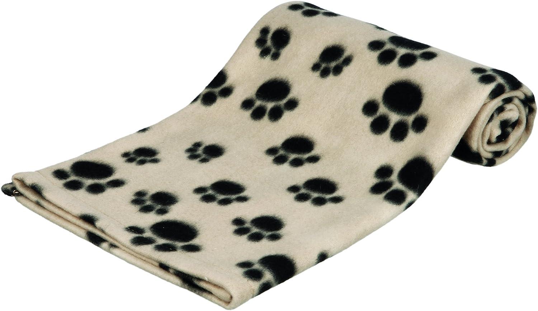 Trixie Manta para Perros Mascotas - Manta Sofa Suave Manta para Mascotas Perros Gatos Cálida Protección Manta Beany 100x70 cm Beige