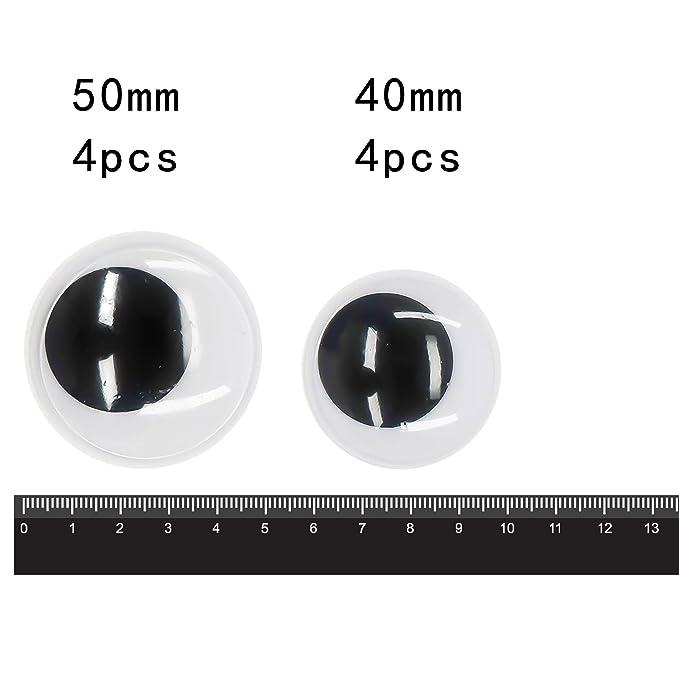Negro//Blanco RAYHER HOBBY 8919500/Ojos de pl/ástico para Pegar di/ámetro 20/mm Bolsa de 10/Unidades Ovalado