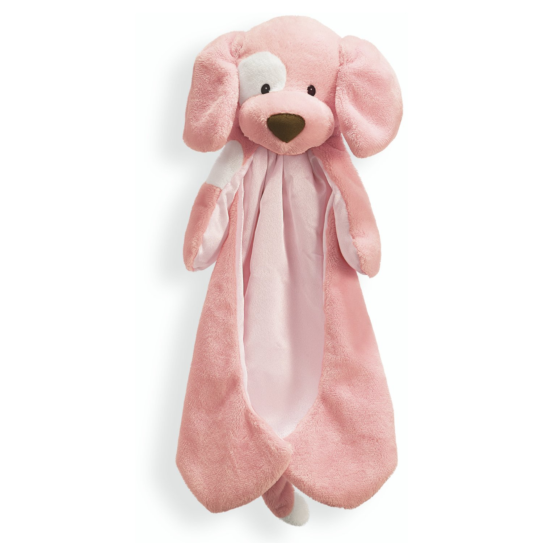 Baby GUND Spunky Huggybuddy Stuffed Animal Plush Blanket, Pink, 15''