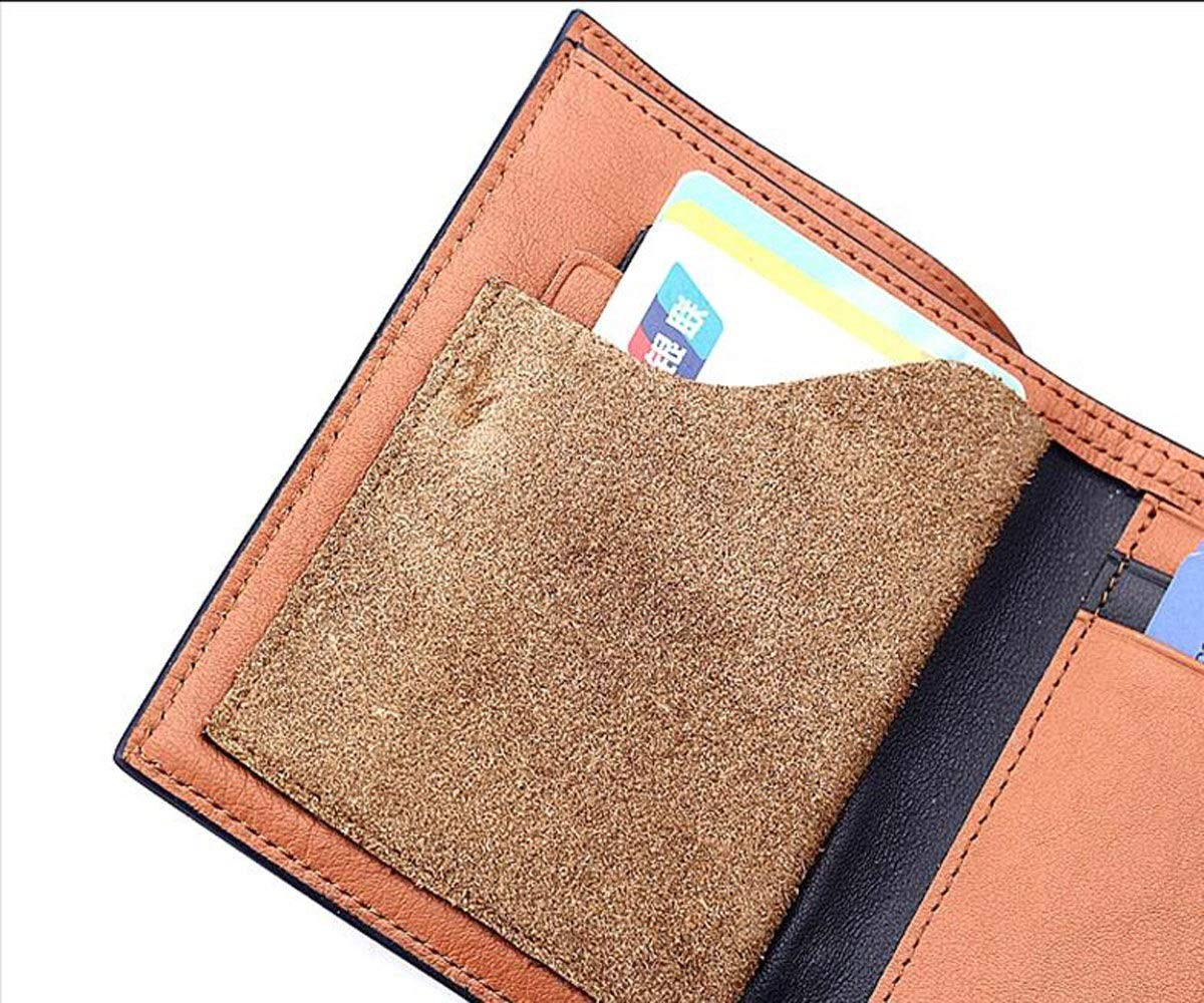 9.8 Aishanghuayi Wallet Size, cm Color Black Color : B, Size : 4.61.63.92 INCH Suitable for Male Folding Business Leather Cross-Section Wallet