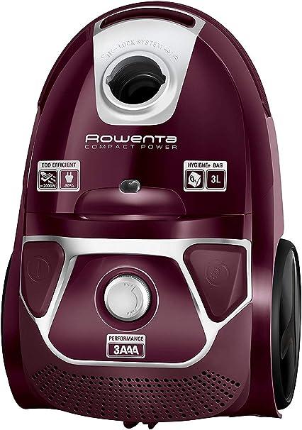 Rowenta Compact Power Morado RO3969EA - Aspirador trineo con bolsa de alta filtración y filtro permanente gran eficiencia, depósito de 3 L (Reacondicionado Certificado): Amazon.es: Hogar