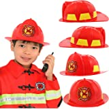 Amazon.com: Casco de bombero para niños, color rojo ...