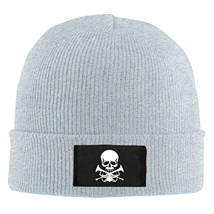 Stretchy Cuff Beanie Hat Black Skull Caps Not Today Satan Logo Winter Warm Knit Hats