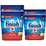 Finish All in 1 Powerball Dishwashing Tablet - Lemon Sparkle - 84 Tablets