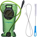 Water Hydration Bladder Pack & Cleaning Kit,2 Liters,Tasteless,Wide-Opening,Leakproof Water Reservoir by XiangHeFu for Hiking Camping Backpack Bicycling
