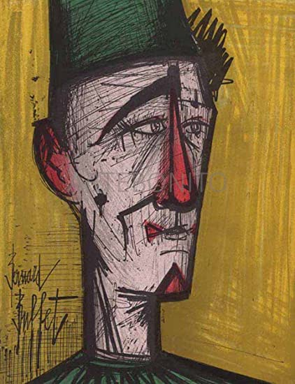 Fabulous Bernard Buffet Original Lithograph Jojo Le Clown Download Free Architecture Designs Lectubocepmadebymaigaardcom