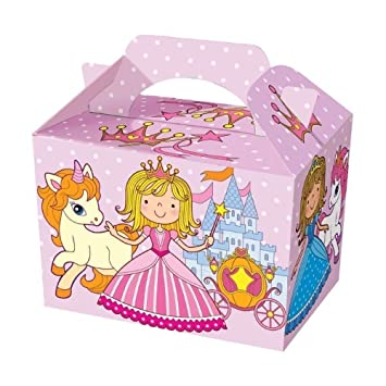 20 Pink Little Princess Castle Food Boxes Pony Meal Box Birthday Party Plate