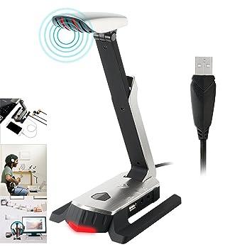 TurnRaise Micrófono del USB para el Micrófono del Juego de Computadora para la PC del Ordenador Portátil y la Grabación PS4 MIC con las Luces del LED: ...