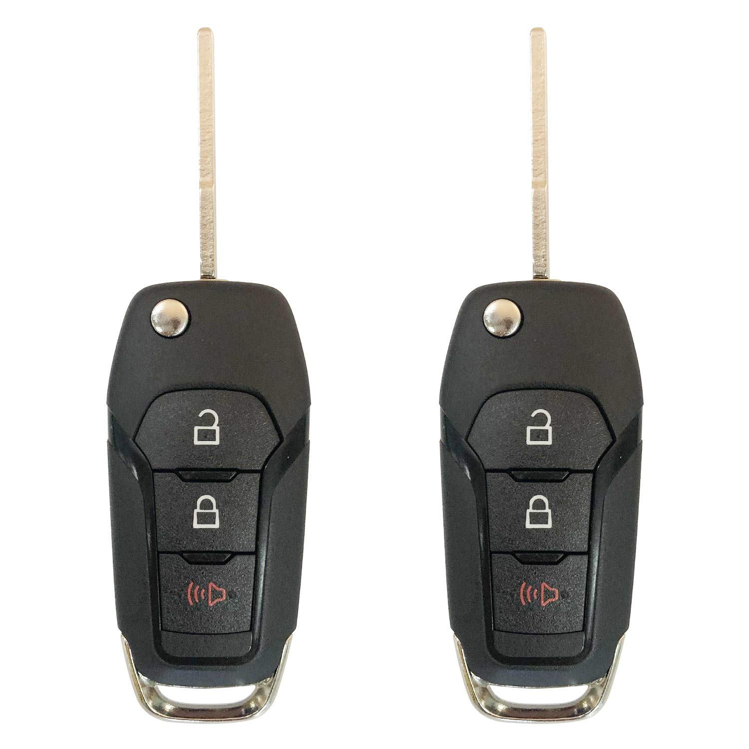 Replacement For 2015-2019 Ford F-150 F-250 350 Keyless Remote Flip Key Fob 164-R8130 N5F-A08TAA;by AUTO KEY MAX (PAIR)