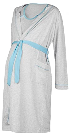 3db2aaf217440 Happy Mama Women's Maternity Hospital Gown Robe Nightie Set Labour & Birth.  767p (Blue