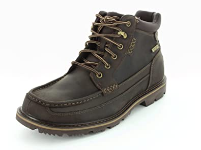 Rockport Men's Gentlemen's Boot Moc Mid Waterproof Brown ...