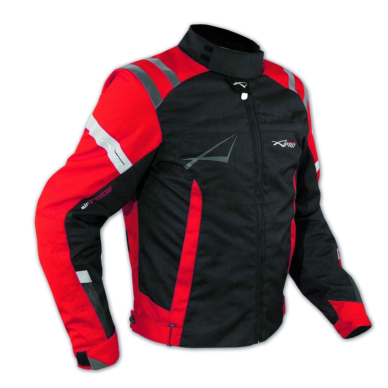 Giacca Sport Touring Moto Cordura CE Protezioni Sfoderabile Scooter Rosso XL