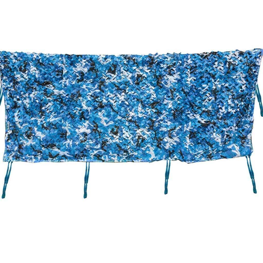 迷彩ネット耐紫外線シェード日焼け止めネット青釣り用プールキャリッジ小屋車植物カバー池デッキ迷彩ネットシェーディングネット ZHAOFENGMING (Color : 青, Size : 6x6M) 青 6x6M