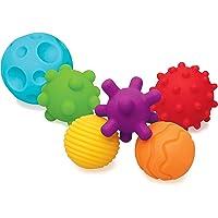 Infantino 5209 Bitleksaker Uppsättning med 6 Bollar, Från 6 månader, Flerfärgade, Paket med 6st