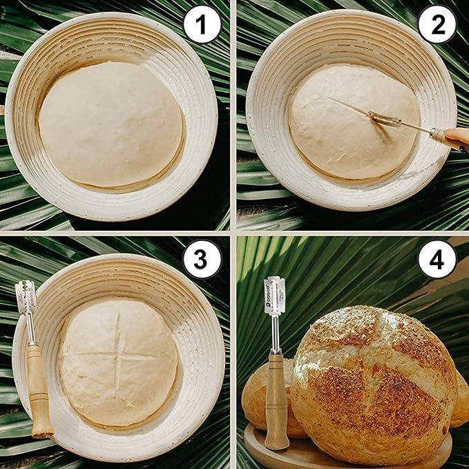 Mango de madera acero inoxidable Pan Lame para principiantes ...