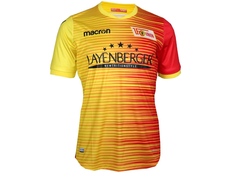 Macron 1. FC Union Berlin Niños Fútbol Jersey Amarillo 17/18 FCU alternativamente Camiseta: Amazon.es: Deportes y aire libre