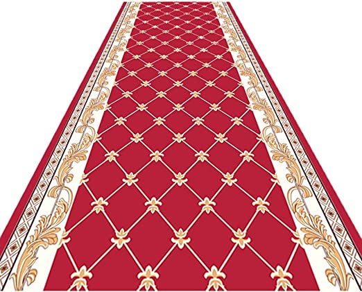 CONGMING-carpet Alfombra del Pasillo Alfombra para Eventos Alfombra Larga 3D Moquetas-Escalera De La Puerta del Hotel, Pasillo, Escaleras/Tamaño Personalizable: Amazon.es: Hogar