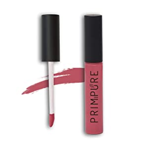 Prim and Pure Natural Lip Gloss for Women | High Pigment Tints, Cruelty Free, Organic Lipgloss | Made in USA, Safe, Nontoxic Lip Care Cosmetics (Pink Rose)