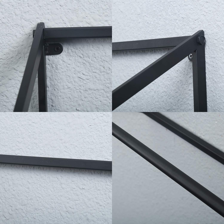 Amazon.com: MBQQ Modern Black Metal Clothing Racks Wall ...