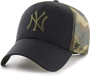 Gorra Curva ´47 NY Yankees Black/Camo Trucker Camo: Amazon.es ...