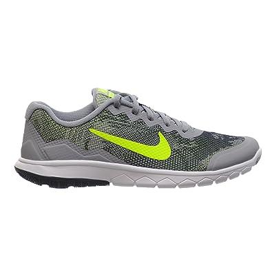 5e7cd8b12db7 Nike Flex Experience 4 Print (GS) Big Kids Shoes Wolf-Grey Volt