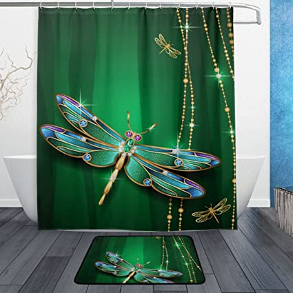 Ordinaire BAIHUISHOP Dragonfly 3 Piece Bathroom Set, Machine Washable For Everyday  Use,Includes 60x72
