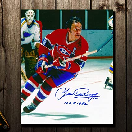 636774c2b6a Yvan Cournoyer Montreal Canadiens HOF RUSH Autographed 8x10 at ...