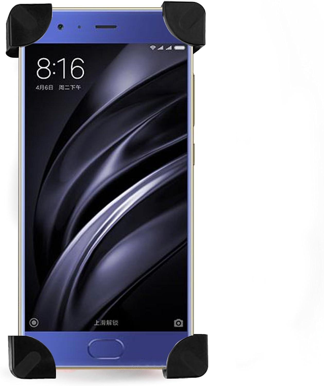 NEVEQ Soporte de teléfono con Montura para Bicicleta para Xiaomi Mi 6 Giro Libre y Soporte de 4 Esquinas para tu teléfono móvil.: Amazon.es: Electrónica